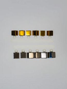 """Набор """"Микро-Бис"""" Куб 2,8 мм. Золото, 4 мм. Серебро"""
