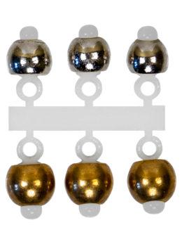 """Набор """"Микро-Бис"""" Латунь 3,2мм Серебро, 4 мм Золото"""