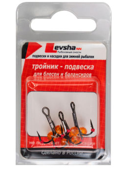 Тройник-подвеска с бусинами Кристалл оранжевый № 8
