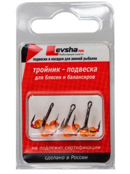 Тройник-подвеска с бусинами Кристалл оранжевый № 10