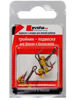 Тройник-подвеска с бусинами Кристалл жёлтый № 8