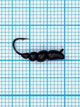 Мормышка Личинка жужелицы  (Сarabo) 0,72/12, чёрный