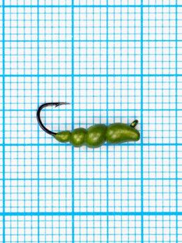 Мормышка Личинка жужелицы  (Сarabo) 0,72/12, желтый Fluo