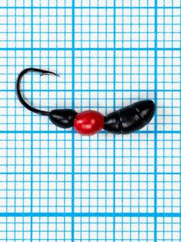 Мормышка Лесной Муравей (Formica RUFA) 0,75/12, чёрно-красный