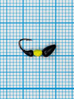 Мормышка Муравей-жнец (Messor) 0,3/2, чёрно-жёлтый Fluo