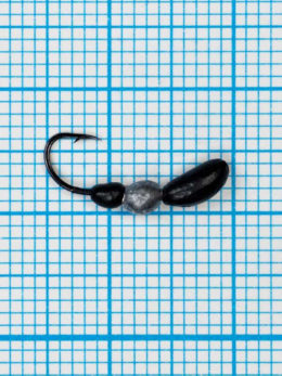 Мормышка Лесной Муравей (Formica RUFA) 0,5/14, чёрно-серебристый