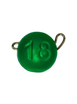 Груз ЧЕБУРАШКА спортивная разборная 18гр зелёный FLUO