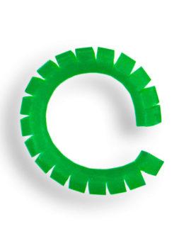 Кембрик сегментированый 0,3/1,2 Зеленый флуо 2 см.