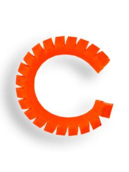 Кембрик сегментированый 0,3/1,2 Алый флуо 2 см.