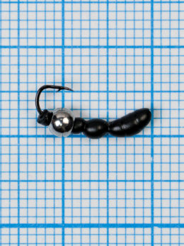 Мормышка Лесной Муравей (Formica RUFA) 0,45/16, чёрный, латунный шар серебро