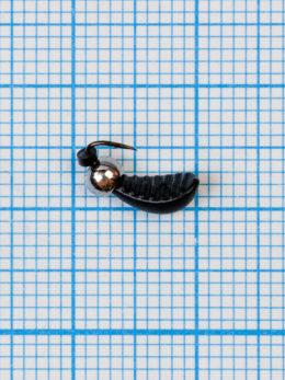 Мормышка Водяной ослик (Asellus aquaticus) 0,55/2, чёрный, латунный шар серебро
